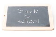 Placa da ardósia de volta à escola Fotografia de Stock Royalty Free