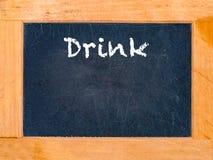 A placa da bebida Imagem de Stock