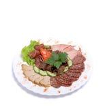 Placa da carne Fotografia de Stock