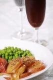 Placa da carne de porco assada Fotos de Stock Royalty Free