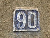 Placa da casa do Grunge 90 imagem de stock royalty free