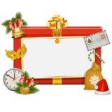 Placa da celebração do Natal do vetor Fotos de Stock Royalty Free