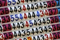 Placa da contagem do competiam do golfe Imagens de Stock