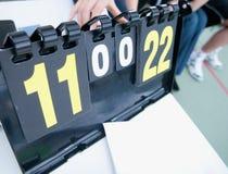 Placa da contagem do tênis Foto de Stock Royalty Free