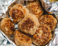 Placa da costoleta dos pastelões da carne Foto de Stock Royalty Free