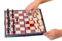 Placa da criança e de xadrez imagens de stock