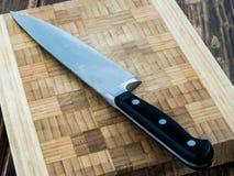 Placa da faca de cozinha Fotos de Stock Royalty Free