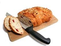 Placa da faca de pão foto de stock