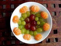 Placa da fruta Imagens de Stock
