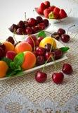 Placa da fruta. imagens de stock
