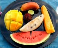 Placa da fruta Imagens de Stock Royalty Free