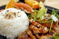 Placa da galinha de Teriyaki Imagens de Stock