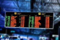 Placa da informação do fligt do aeroporto Fotos de Stock