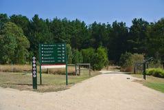 Placa da informação do parque imagem de stock royalty free