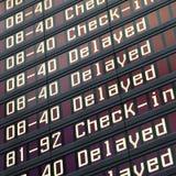 Placa da informação no aeroporto imagens de stock