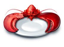 Placa da lagosta ilustração stock