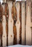 A placa da laje na cerca Fotos de Stock