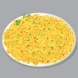 Placa da massa com vegetais Imagens de Stock Royalty Free