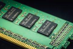 Placa da memória do computador imagens de stock