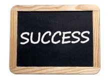 Placa da motivação do sucesso Fotos de Stock Royalty Free