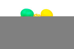Placa da Páscoa com ovos Foto de Stock Royalty Free