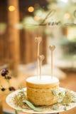 Placa da pastelaria do deserto Fotos de Stock
