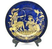 Placa da porcelana fotografia de stock royalty free