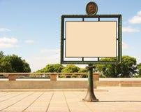 Placa da publicidade Fotos de Stock