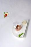 Placa da refeição de jantar fina Foto de Stock