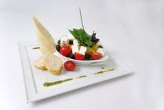 Placa da refeição de jantar fina Fotografia de Stock Royalty Free
