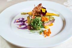 Placa da refeição de jantar fina Foto de Stock Royalty Free