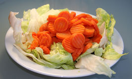 Placa da salada Imagem de Stock Royalty Free