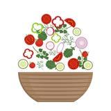 Placa da salada fresca ilustração royalty free