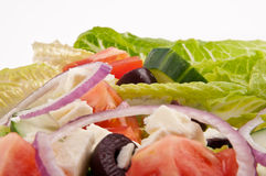Placa da salada para o estilo de vida saudável imagens de stock royalty free