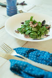 Placa da salada verde Foto de Stock Royalty Free