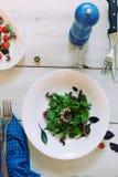 Placa da salada verde Foto de Stock