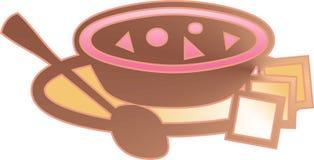 Placa da sopa Imagem de Stock Royalty Free