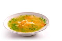 Placa da sopa de galinha fotografia de stock royalty free