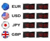 Placa da taxa de moeda Imagem de Stock Royalty Free