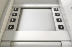 Placa da tela do ATM Imagem de Stock Royalty Free