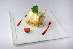 Placa da torta de maçã Imagens de Stock Royalty Free