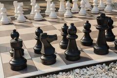 A placa da xadrez no jardim. Foto de Stock