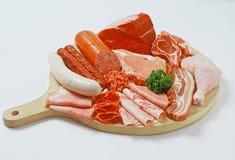 Placa das carnes Fotografia de Stock