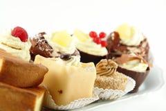 Placa das pastelarias Foto de Stock Royalty Free