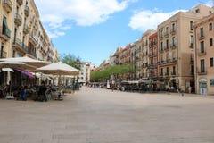 Placa de Λα Font Tarragona κατά τη διάρκεια των μεσογειακών παιχνιδιών τον Ιούνιο του 2018 στοκ φωτογραφία