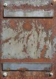 Placa de aço Fotografia de Stock Royalty Free