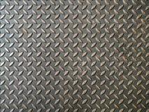Placa de aço do diamante com fundo da textura da oxidação imagens de stock