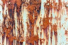 Placa de aço metálica oxidada vermelha velha com pintura de lasca Imagem de Stock