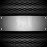 Placa de aço para seu projeto Imagens de Stock