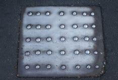 Placa de acero Imagenes de archivo